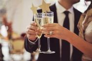 Champagne toast idea {via ruffledblog.com}