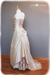 Cherry-blossom wedding gown, by AvailCo on etsy.com