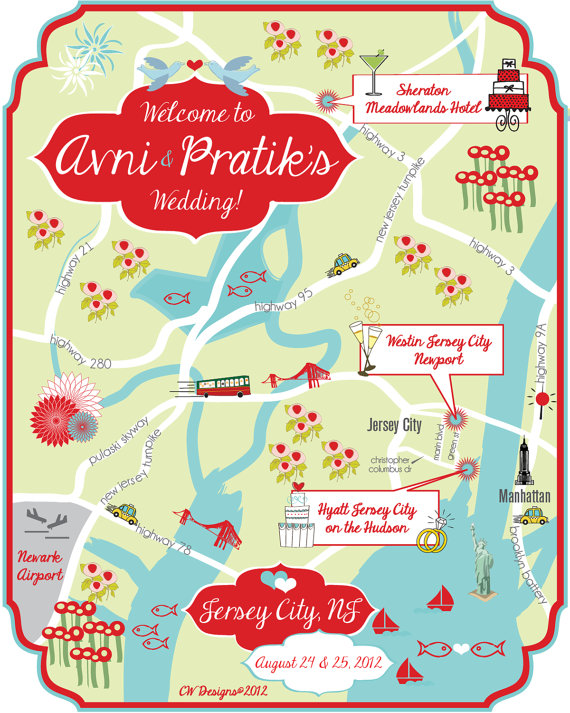 Customised wedding venue map by cwdesigns2010 on etsy the published december 15 2013 at 570 713 in tiffany blue and red wedding gumiabroncs Choice Image