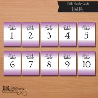 Downloadable table numbers, by designedbyme on etsy.com
