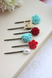 Hair pins, by Marolsha on etsy.com