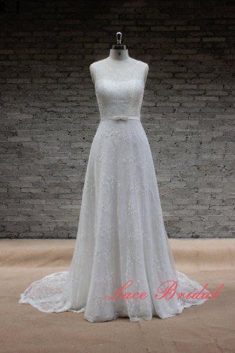 Wedding dress (US$405), by LaceBridal on etsy.com