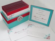 Wedding guest message box and cards, by MichelleWorldesigns on etsy.com
