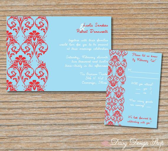 Wedding Invitation By DaisyDesignShop On Etsy