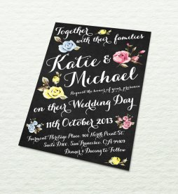 Wedding invitation, by designbydetail on etsy.com