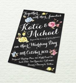 Wedding invitation, by designbydetail on etsy.com