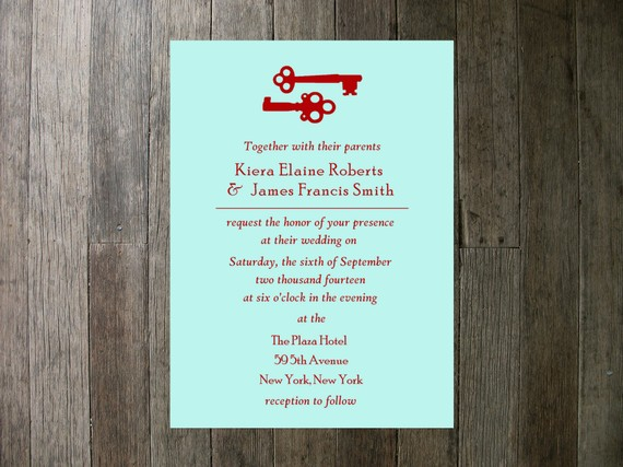 Tiffany Blue And Red Wedding Invitations: Tiffany Blue And Red Wedding