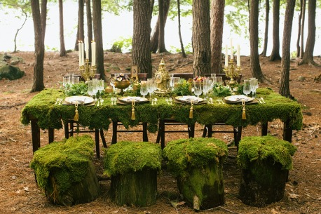 Amazing woodland wedding reception! {via mark-davidson.com}