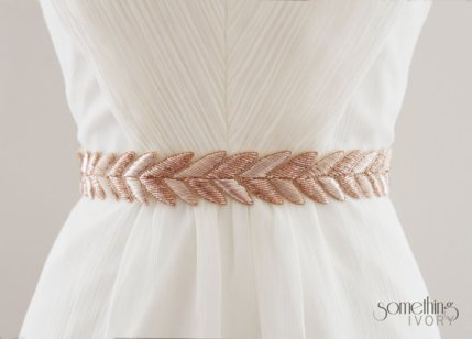 Bridal sash, by SomethingIvory on etsy.com