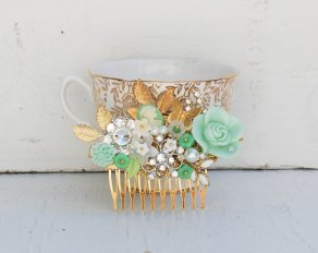 Hair comb, by redtruckdesigns on etsy.com