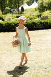 Mint flower girl dress, by MiaLorenBoutique on etsy.com