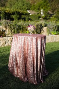 Sequin tablecloth, by CandyCrushEvents on etsy.com
