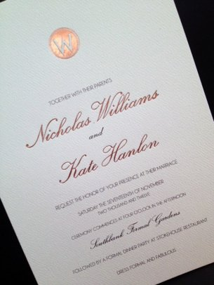 Wedding invitation, by FullhouseDesigns on etsy.com
