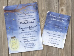 Wedding invitation, by GoodSailorDesign on etsy.com