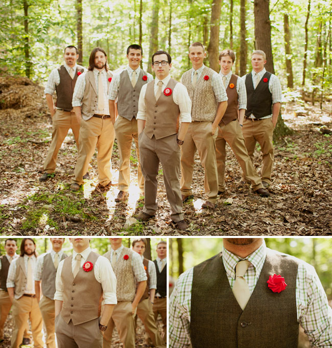 Woodland Wedding In Shades Of Green And Brown
