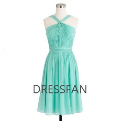 Aqua bridesmaid dress, by Dressfan on etsy.com