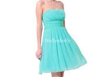 Aqua bridesmaid dress, by hollyxholly on etsy.com