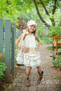 Barn wedding flower girl dress, by abushelandapeckbiz on etsy.com