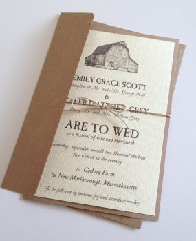 Barn wedding invitation, by LemonInvitations on etsy.com