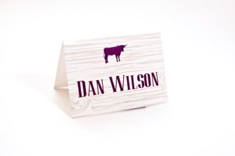 Barn wedding placecards, by InvitationToShine on etsy.com