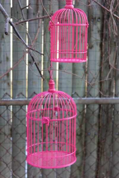 Birdcage decorations, by DesignsByEmbellish on etsy.com