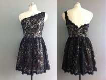 Black lace bridesmaid dress, by XOXOdress on etsy.com