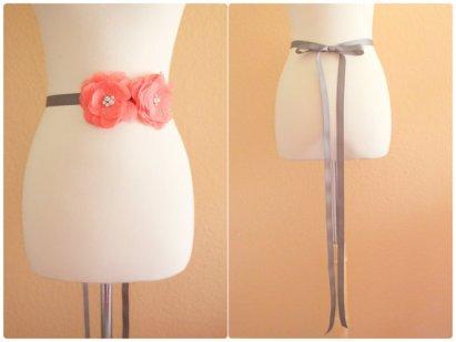 Bridal sash, by lovelikestyle on etsy.com