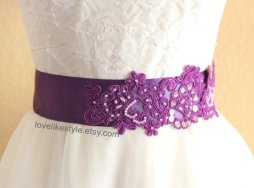 Bridal sash, by lovelikestyle on etsy.com
