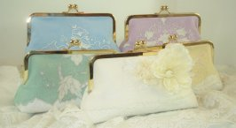 Bridesmaid clutch purses, by PetiteVintageBags on etsy.com