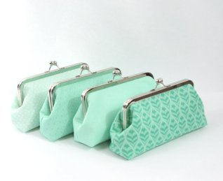 Bridesmaid clutches, by ModDotTextiles on etsy.com
