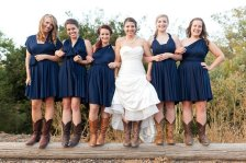 Bridesmaid navy infinity dress, by TheRadicalThreadCo on etsy.com