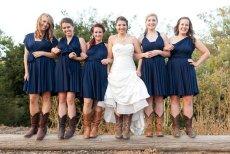 Bridesmaid navy infinity dress, by TheRadicalThreadCo on etsy.com