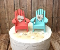 Cake-topper chairs, by MorganTheCreator on etsy.com