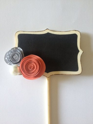 Chalkboard table numbers, by PancakesandGlueGuns on etsy.com