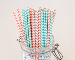 Chevron paper straws, by CreateMyFete on etsy.com