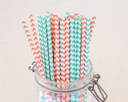 Chevron paper straws, by CreateMyFete on etsy.com