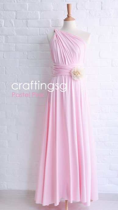Convertable bridesmaid dress, by craftingsg on etsy.com
