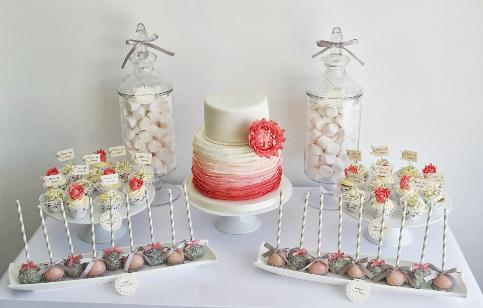 Coral and grey wedding | The Merry Bride