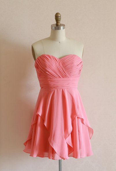 Coral bridesmaid dress, by misdress on etsy.com