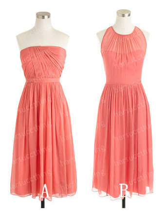 Coral bridesmaid dress in two styles, by harsuccthing on ...
