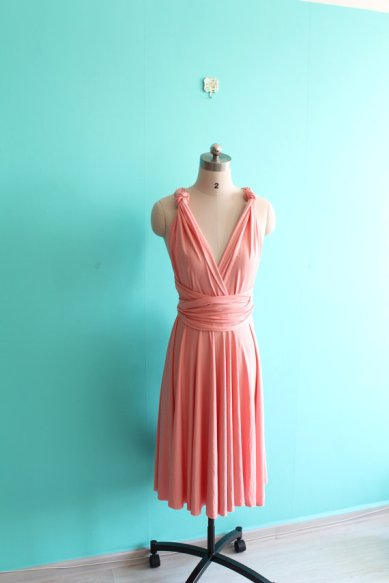 Coral infinity dress, by EightFlowers on etsy.com