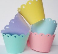 Cupcake wrappers, by SouthernScrappn on etsy.com