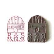 Customised barn wedding stamp, by creatiate on etsy.com