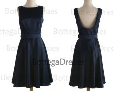 Dark navy bridesmaid dress, by BottegaDresses on etsy.com