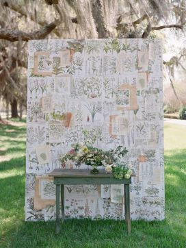 DIY ceremony backdrop {via kissthegroom.com}