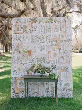 DIY ceremony backdrop {via kissthegroom.com}