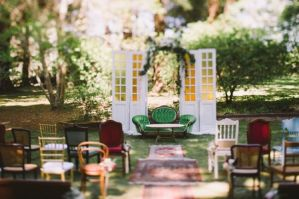 Doors as a ceremony area {via larahotz.com}