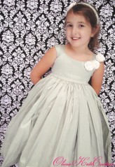 Dupioni silk flower girl dress, by OliviaKateCouture on etsy.com