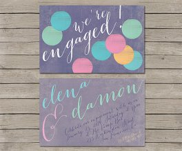 Engagement party invitation, by TheRocheShop on etsy.com