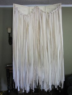 Fabric long garland, by packratdiva on etsy.com